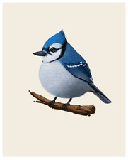 Mike Mitchell Blue Jay 2013 Fat Bird 8x10 Ed of 276