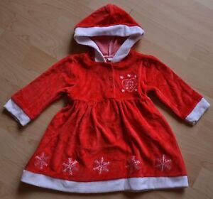 Zuckersüßes Miss Santa Kleid Weihnachtskleid Weihnachten Gr 68 rot NEU England