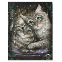 CAT CANVAS 'LONGING' BY LINDA JONES RAIN CATS KITTENS MYTHICAL WALL ART