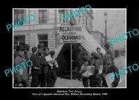 OLD LARGE HISTORIC PHOTO HOBOKEN NEW JERSEY, SPANISH AMERICAN WAR STATION 1900