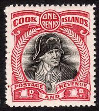 Cook Islands 1932 black/lake 1d perf 14 mint SG100c