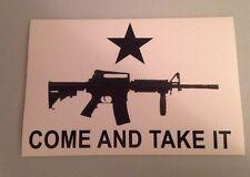 Come And Take It AR-15 Rifle Bumper Sticker NRA Second Amendment Pro Gun
