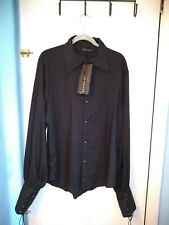 Men's Punkrave Shirt Gotic Black New Sz 4x