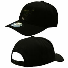 Mitchell & Ness Chicago Bulls Adjustable Peak Snapback Adults Cap Black INTL461