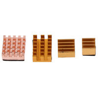 Copper+ Aluminum Heatsink Cooler Radiator Kit for Raspberry Pi 4B FE