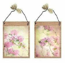 Floral Pictures Pink Honey Suckle Flowers in Bloom Bath Wall Hangings Plaques