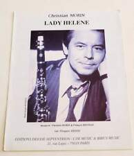 Partition vintage sheet music CHRISTIAN MORIN : Lady Helene * 90's Rare ! Jazz