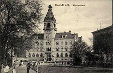 Halle Saale Hauptpostamt Post 1916 Feldpostkarte Feldpost 1. Weltkrieg gelauf.