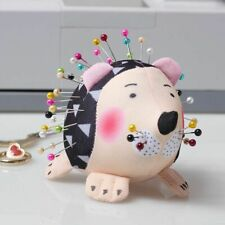 Cute Pin Cushion Hedgehog Shape Soft Fabric Round Quilting Holder Sewing Crafts