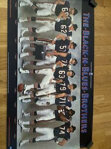 The Black-N-Blues Brothers Poster Chicago Bears.  Offensive Linemen. Chevrolet