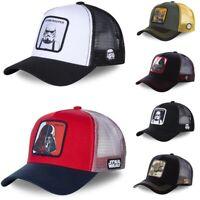 New Men Women Baseball Cap Marvel Star Wars Mesh Snapback Trucker Sports Hat