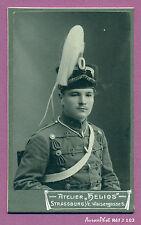 CDV HÉLIOS à STRASSBURG : MILITAIRE ALLEMAND AVEC SHAKO à CRINIÈRE , 1880 -J103