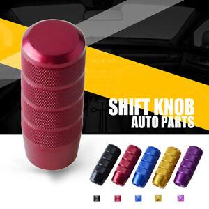 Aluminum Red Racing Car Gear Shift Knob Shifter Lever Head Universal
