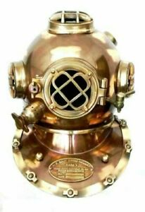 "Scuba Diving Divers Helmet U.S Navy Mark V Original Antique 18""Table/desk Decor"
