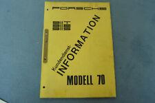Porsche 911 T E S F modell Kundendienst Information 1970