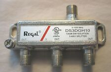 Regal DS3DGH10 Coaxial Cable 3-Way Splitter 5-1000 MHz