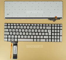 NEW for ASUS R552JK R552JV R552LF Keyboard Backlit UK Silver NO Frame