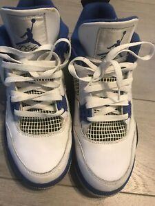 Air Jordan 4 Retro 'Motorsports' blue and white Size 9.5 308497-117 - beautiful!