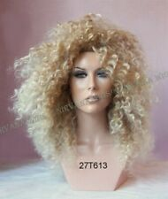 Diana Ross Style Sandy Blonde with Lighter Tips Afro Spiral Curls Wig