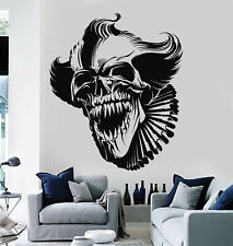 Vinyl Wall Decal Scary Clown Skull Grin Monster Fear Horror Stickers (g1162)