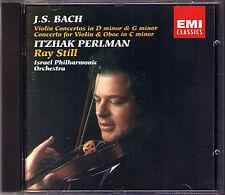 Itzhak PERLMAN: BACH Violin Concerto BWV 1052 1056 1060 EMI CD Ray Still