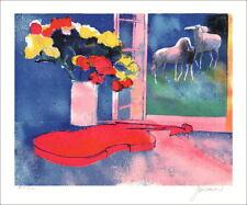 Paul GUIRAMAND - Lithographie Originale SIGNÉE/NUM au crayon 36x47 cm, Harmonie