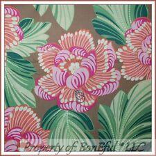 BonEful FABRIC FQ Cotton Quilt Amy Butler VTG Flower Pink White Orange CHARM Dot