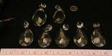 7 Vintage Crystal Glass Jewel Chandelier Prisms Tear Drops