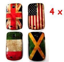 LOTTO 4pz COVER PER GALAXY NEXT S5570 MINI BANDIERA CASE FLAG UK USA ITA JAMAICA