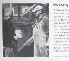 Original 1959 Texaco Ad Photo Endorsed by William Kunz of Chillicothe Ohio