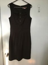 Review black dress with bow feature front in size 8