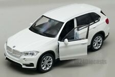 BMW X5 white, Welly scale 1:34-39, model toy car gift