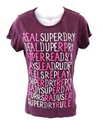 SUPERDRY Womens T Shirt Top M Medium Purple Cotton