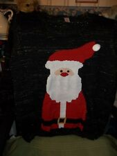 Holiday Time Women's Plus Jolly Santa Pullover Ugly Christmas Sweater - 4X