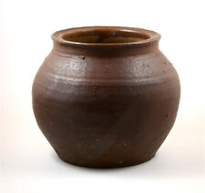 Japan Meiji Period old large Tanba-yaki glazed pottery jar