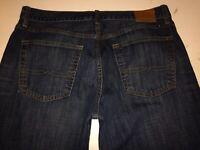 Lucky Brand Jeans 221 Original Straight Leg Blue Denim 100% Cotton Men's 36 x 34