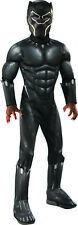 Deluxe Black Panther Boys Child Marvel Movie Superhero Costume-L