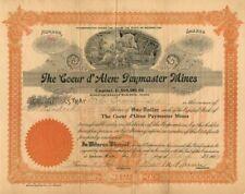 Coeur d'Alene Paymaster Mines