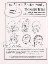 PETER SINCLAIR Signed  8x10 Original Cartoon Drawings  COA