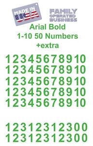1-10 ARIAL 50+ Vinyl Numbers for Address Locker Door Wall Die Cut Decal Sticker