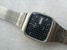 BEAUTIFUL INDIA TITAN EXACTA SQUARE ST STEEL CHECKS DIAL MEN'S QUARTZ WRISTWATCH