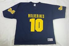 Vintage Tom Brady #10 Michigan Wolverines Logo 7 Jersey Size Xl Made in Usa