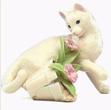 Lenox Kitty's Garden Figurine Cat with Flower Pot Porcelain NEW IN BOX!