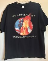 "Blaze Bayley 2017 ""Endure and Survive"" World Tour USA and Canada Blk XL T Shirt"