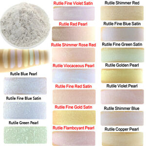10g Cosmetic Grade Natural Mica Powder Soap Candle Colorant Interference Rutile