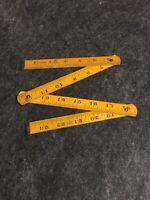 "Folding Rule 24"" Vintage Made In Australia. No Name/ Buck Head / Rare"