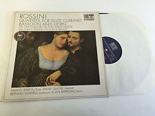 ROSSINI QUARTETS FOR FLUTE CLARINET BASSOON VINYL LP SAGA 5249 MINT/EX