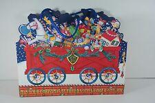 Mary Engelbreitchristmas Train Medium Gift Bag Mint