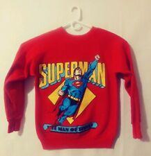 Vintage Superman Sweater Man of Steel By Pannill. Size Medium DC Comics