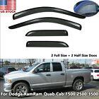 For Dodge Ram 1500 2500 3500 02-08 Window Visor Rain Guard Vent Deflector Shade